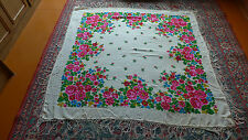 80s Chale VINTAGE russe/USSR/Russian Shawl  140 cm wool NEW