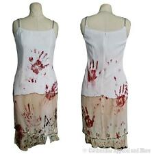 Zombie Dress M Medium 8 Costume Walking Dead OOAK Hand Painted Wedding Prom