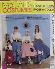 McCall's Pattern 7253 Costume Size 7/8,10/12, 14 At the Hop Skirt & Petticoat UC