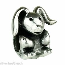 Chunky Bunny Rabbit/Hare Sterling Silver Bracelet/Bangle Charm Bead