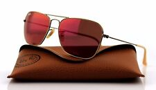 NEW Authentic Ray-Ban CARAVAN Bronze Copper Red Mirror Sunglasses RB 3136 167/2K