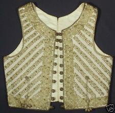 ANTIQUE Ottoman ethnic vest gold metallic embroidery couching wool silk Albanian