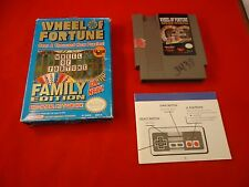 Wheel of Fortune: Family Edition (Nintendo NES, 1990) Near Complete w/ Box