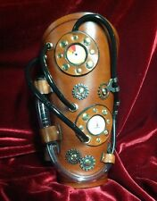 Steampunk Leather Bracers Arm Guards Vambrace Cosplay LARP Unique OOAK