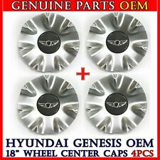 "NEW 2009-2014 Hyundai Genesis V8 4.6L 18"" Wing Emblem Wheel Center Hub Cap 4pcs"
