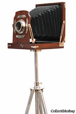 Wooden Old time Camera vintage collection decorative ornaments Handmade Retro