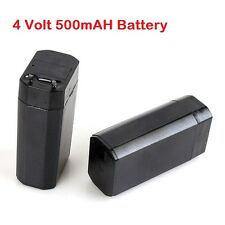 4.0Volt, 500mAh (0.5 Ampere) Battery, Sealed Lead Acid Rechargable Battery