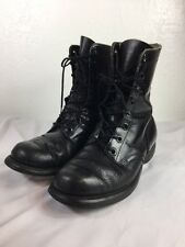 Vintage Biltrite black leather 90's Punk Rock combat boots Paratrooper Sz 8 Wide