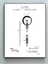 Framed 8.5 X 11 Light Bulb Classic Original Patent Diagram Plans Ready To Hang
