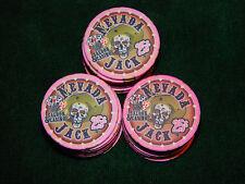 Nevada Jack Poker Chips - Twenty-five  25 cent Chips