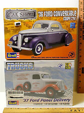 Revell 1:24 Plastic Model '36 Ford Conv Coupe Kit BS-4227 + '37 Ford Panel Truck