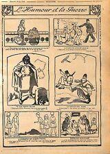 l'Humour & la Guerre Agent de Police Montre Guillaume II Borne Verdun WWI 1916