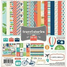"""CARTA BELLA """"TRAVEL STORIES"""" 12X12 PAPER PACK VACATION TRIPS  SCRAPJACK'S PLACE"""