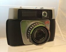 Vintage Braun Paxina Electramatic Camera In Original Brown Leather Case /