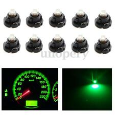 10Pcs T4.2 1210 Neo Wedge Car Climate Control Panel LED Light Bulb Green 12V New