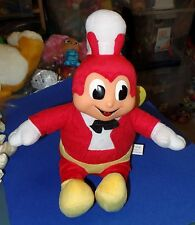 "2016 JOLLIBEE DOLL TALKING & LIGHT UP  PLUSH TOY 12"" TALL  VINYL  FACE"