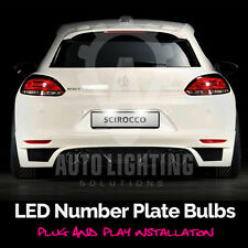 VW SCIROCCO 2008-2013 Xenon Bianco LED Targa / License LAMPADINE Upgrade
