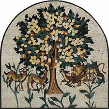 Arch Design Arbor Landscape Animals Garden  Marble Mosaic FL839