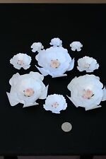 "15 Paper Flowers for Wall Décor,Backdrops, Weddings and Showers decoration 4""-2"""