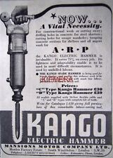 1940 KANGO Electric Hammer (For use by the A.R.P.) AD - Small WW2 Print ADVERT