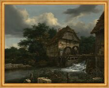 Two Watermills and an Open Sluice Jacob Isaacksz. van Ruisdael Mühle B A2 02324
