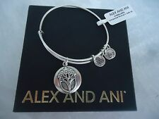 Alex and Ani UNEXPECTED MIRACLES II Russian Silver Bangle New W/Tag Card & Box