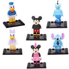 Donald Duck Stitch Mickey Daisy Genie Minnie 6 Mini figures Building Toys lEGO