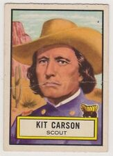1954 Topps Look and See #53 Kit Carson, Very Good Condition!