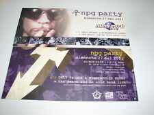 PRINCE NPG PARTY 2001!!!!!!!!!!!!!!!!!!RARE FRENCH FYER