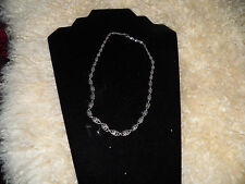 Antique  835 silver Russian ? unusual twist modernist graduated links necklace