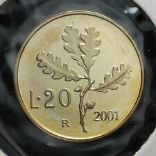 2001  Repubblica Italiana 20 lire FONDO SPECCHIO  da divisionale