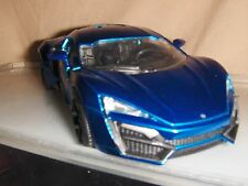 Toy Jada / Dub Diecast 1:24 Blue Lykan HyperSport car Hot Rod Fast Furious