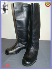 NOT USED  Sz.43 Soviet Chrome Leather Army Officer High Boots Riding