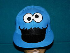 Retro! COOKIE MONSTER fitted BALL CAP adult 7-3/8 @ Sesame Street MUPPETS