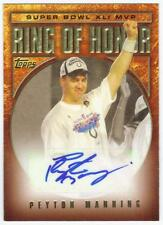 PEYTON MANNING 2007 TOPPS RING OF HONOR AUTO SUPER BOWL MVP AUTOGRAPH #RHA41-PM
