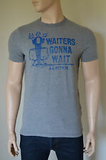 NEW Abercrombie & Fitch Orebed Brook Waiters Gonna Wait Grey Tee XL
