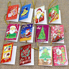 New 20 pcs Christmas Card Hanging Decorations For Christmas Trees Decoration