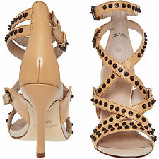 DIESEL Nude Leather Multi Strap Studded Sandals Size 7 RRP £220 Price Reduced