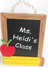 Personalized hand-painted teacher gift wood sign