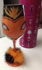 LOLITA LOVE MY WINE - MASQUERADE TOO WINE GLASS - HALLOWEEN -  NEW IN BOX
