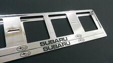 2X SUBARU EUROPEAN LICENSE NUMBER PLATE SURROUND FRAME HOLDER.
