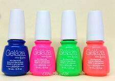 Gelaze by China Glaze - Gel-n-Base In One - SET OF 4 COLORS