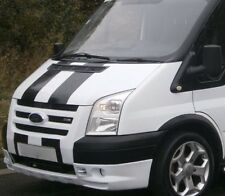GLOSS BLACK FORD TRANSIT SPORT BONNET STRIPES DECALS STICKERS GRAPHICS