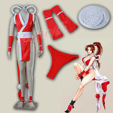 Cafiona King of Fighters KOF Mai Shiranui Cosplay Costume Red Sexy Set Any Size