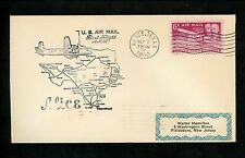 US Postal History Airmail CAM AM 82 Alice TX 1950 AAMC #82N44 Airplane Map