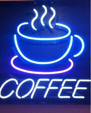 "New Coffee Shop Cafe Open Beer Bar Neon Sign 17""x14"" Ship From USA"