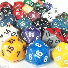 Chessex Dice - 3 oz. assorted d20 dice 20 sided dice Twenty - sided
