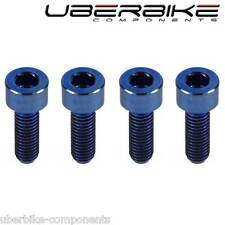 Uberbike Blue Titanium Brake Lever Bolts MTB Ti kits Avid Hope Compatible