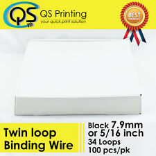 "7.9mm 5/16"" TWIN LOOP BINDING WIRE 3:1 Black 100/box"