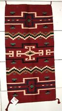 "Throw Rug Tapestry Southwest Western Hand Woven Wool 20x40"" Replica #437"